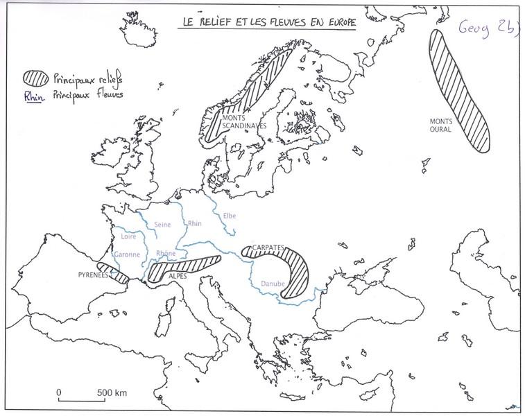 Carte Europe Relief Et Fleuves.Les Reliefs Et Les Fleuves En Europe Ecole De Bonnes
